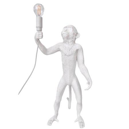 witte monkey lamp vloerlamp