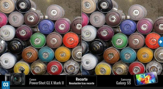 Canon, cámara contra móvil