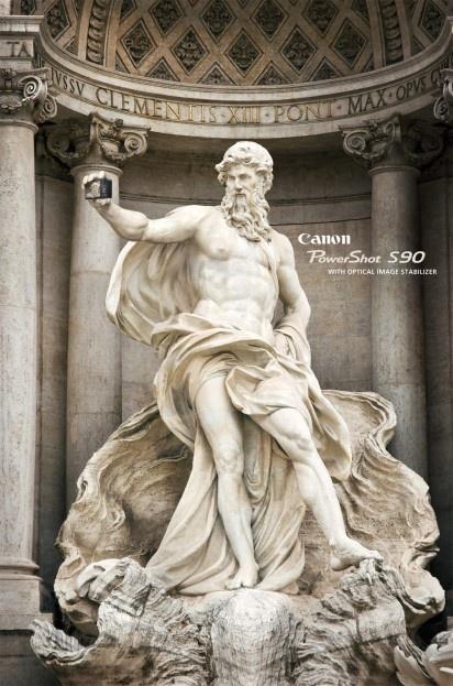 anuncio canon, escultura