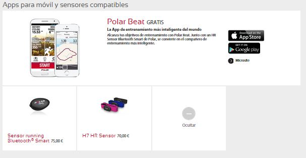 Productos Polar: apps y compatibles