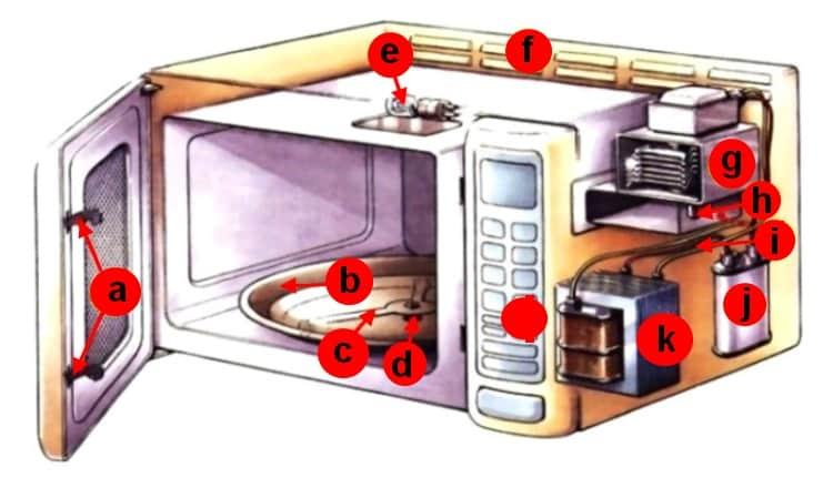 Как устроена микроволновая печь