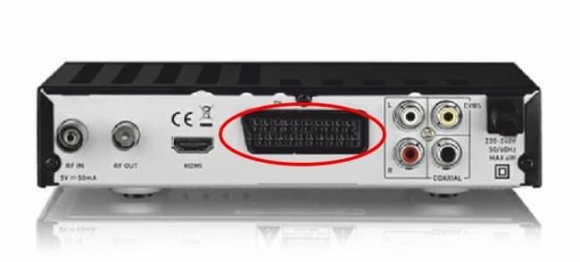SCART konektörlü alıcı