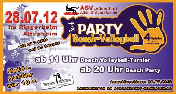 ASV Altenheim Beach-Volleyball-Party 2012