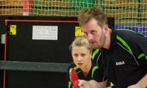 Maria und Eric im Mixed-Doppel-Wettbewerb der Tegel-Open 2014