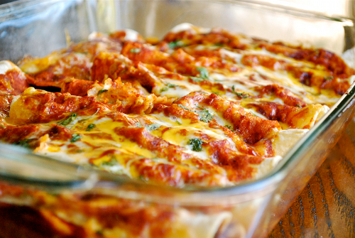 Shredded Chicken Enchiladas recipe and images by Lacey Baier, a sweet pea chef