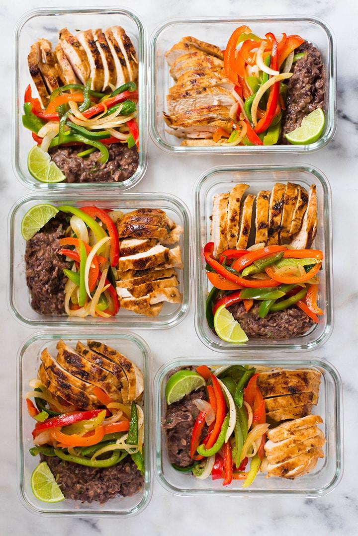 Healthy Chicken Fajitas Meal Prep