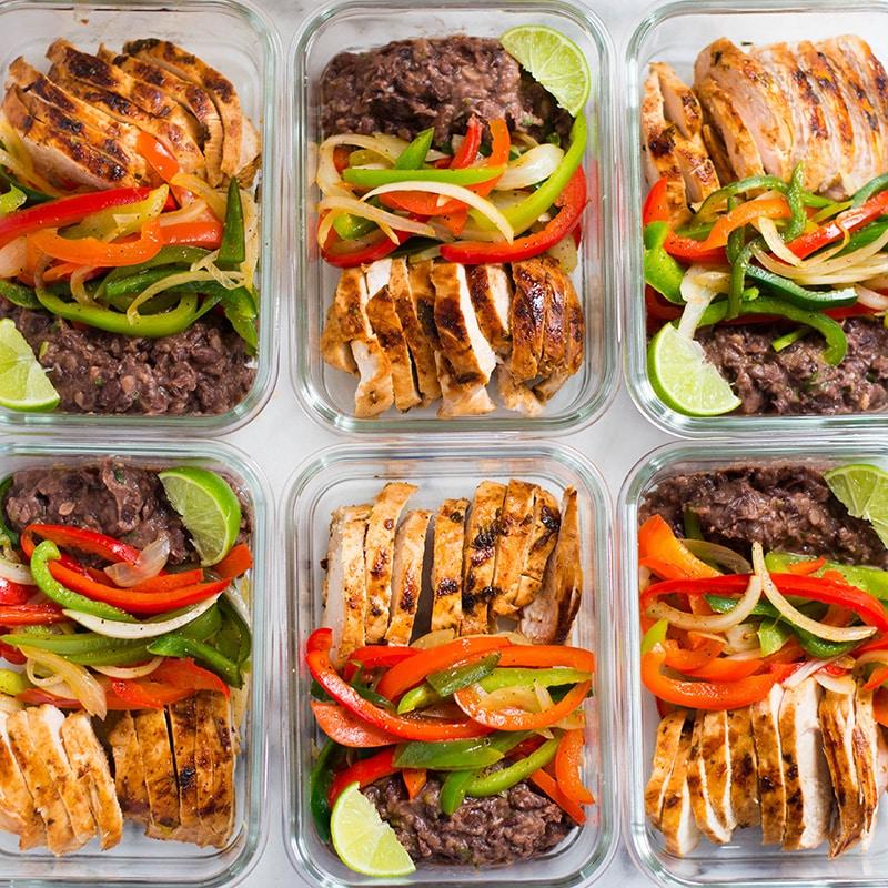 Healthy Chicken Fajitas Meal Prep | Meal Prep On A Budget ...