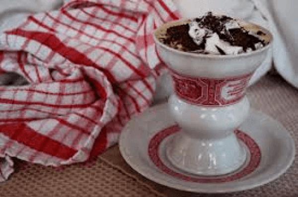 Traditional cup and saucer for Rudesheim Kaffee