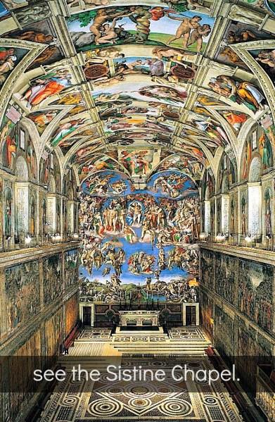 entire interior of Sistine Chapel