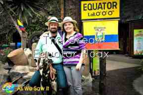 Ecuador lies on the equator and has the real equator line monuments to prove it ... but there's one thing about Mitad del Mundo that nobody wants to talk about.