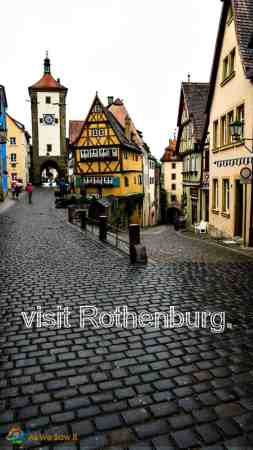 Rothenburg bucket list pin