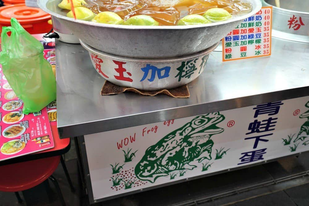 Serving bowl of tapioca pearl drink in Shilin Night Market