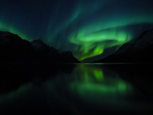 Aurora borealis, Northern lights, North Norway Lea Ponzle; Oceanwide Expeditions
