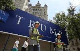 Mr. Trump's real estate empire and his political campaign were both built using immigrants.