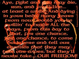 they will never take our freedom