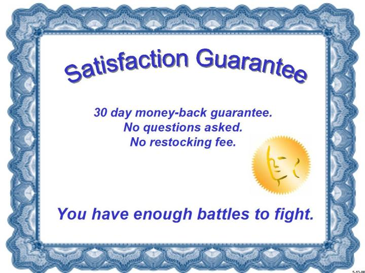 Image result for GUARANTEES ABOUT MONEY BACK