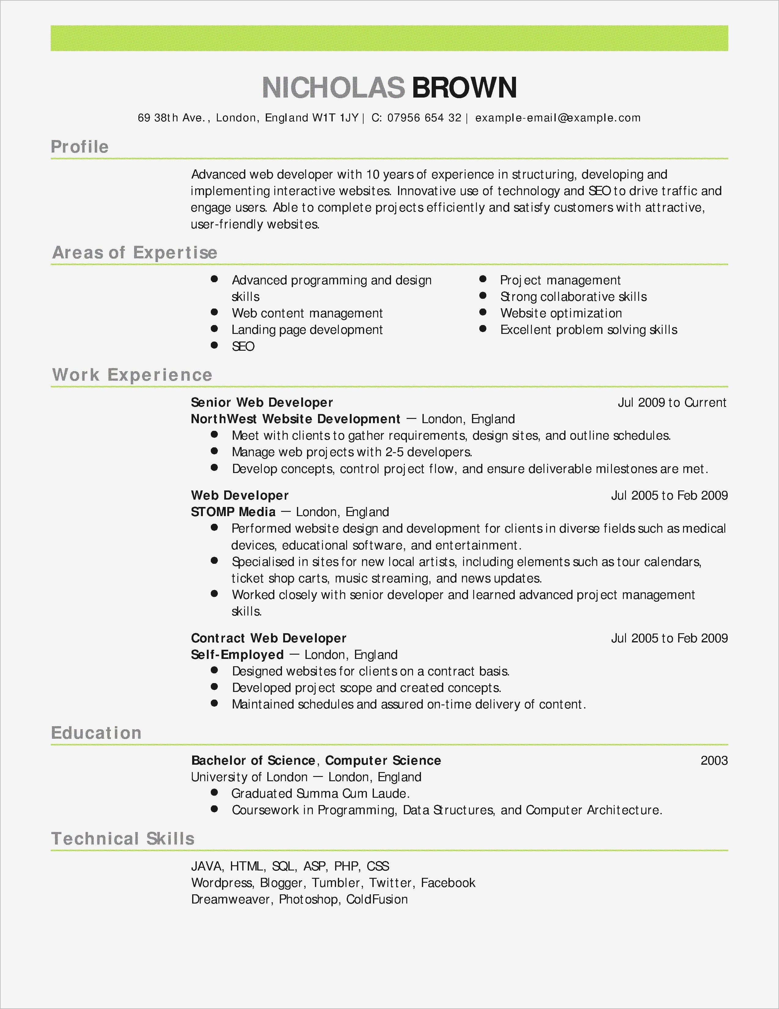 10 Resume Worksheet Template Collection