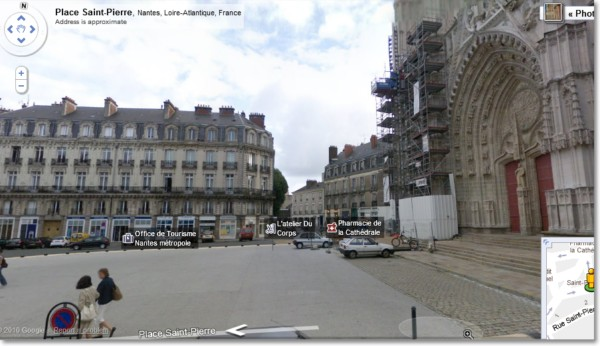 Google streetview Nantes, Saint Pierre