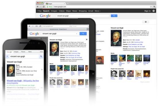 Google Knowledge Base auf mobilen Geräten