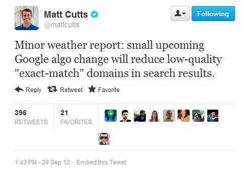 google bestraft passende domain namen geringer qualität
