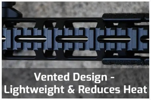 Vented Design - Lightweight and reduces heat