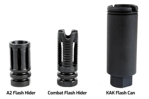 Complete Upper Muzzle Devices - A2 Flash Hider, Combat Flash Hider, KAK Flash Can