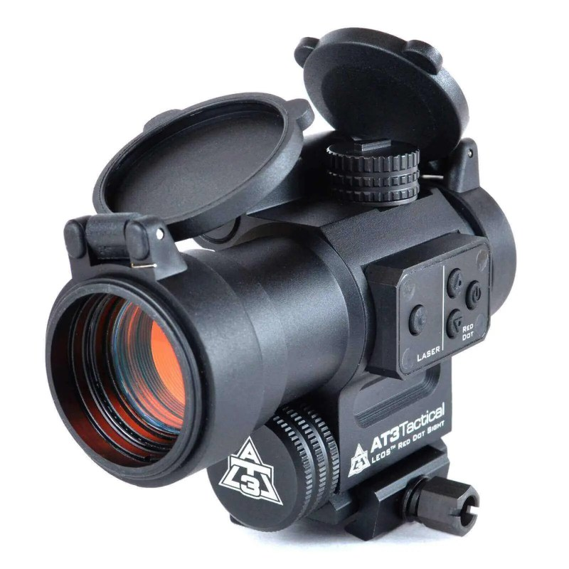 OPEN BOX RETURN AT3™ LEOS™ Red Dot Sight with Integrated Laser Sight & Riser