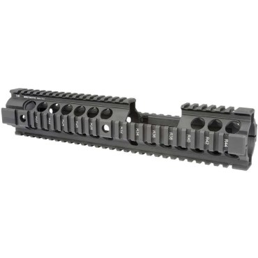 "MI 12.5"" AR-15 Gen2 Two Piece Free Float Quad Rail Handguard with Carbine Front Sight Cutout"