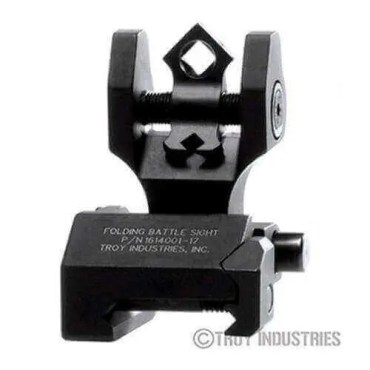 Troy Rear Sight - Folding - Di-Optic Aperture (DOA) - Tritium Illumination-BLACK