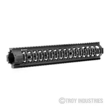 "Troy 13.8"" MRF-RX AR-15 Battle Rail - Free Float Quad Rail Handguard BLACK"