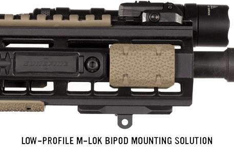 Low Profile M-LOK Rifle Bipod Mount