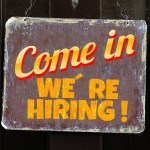 """[jog announcement - """"come in we're hiring"""" picture]"""