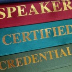 [Speaker, Certified, and Credentialed ribbons]
