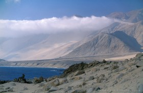 Camanchaca, the typical coastal clouds of the Atacama Desert which provides humidity for the flora and fauna