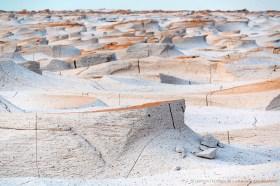 Pumice rock sculptured wy wind erosion. Campo de Pedra Pomez, Catamarca Argentina