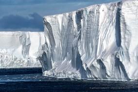 Tabular iceberg broken off the Ross Iceshelf, McMurdo Sound, Antarcica