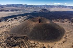 Aerial view of Volcano Alumbrera near Antofagasta de la Sierra, Argentina
