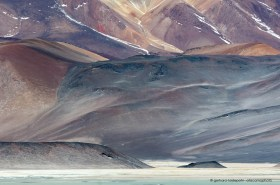 Amazing shades, tones and colors, desert mountains at the Altiplano of Chile