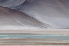 Almost a painting: Desert landscape Salar de Aguas Calientes