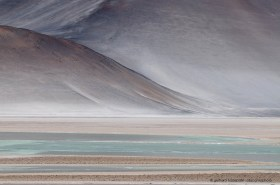 Almost a painting: Salar de Aguas Calientes in the Chilean altiplano