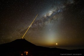 The VLT, the 4 Lasers, Zodiacal Light, the Moon and the Milky Way