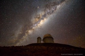 La Silla observatory: the 3.6m Telescope below the Milky Way