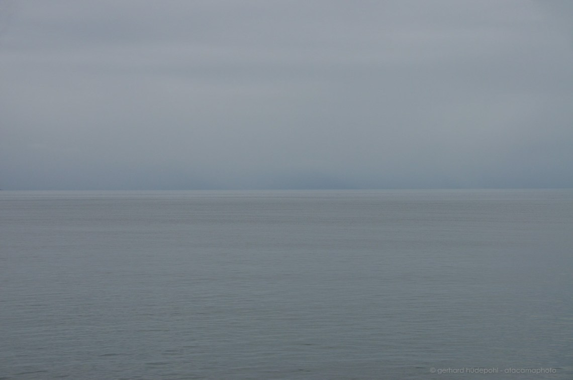 The Nothingness Of The Ocean Gray Sky And Gray Pacific Near Coast Of Patagonia In Chile
