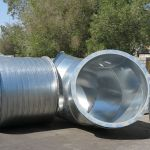 Round Industrial Duct Fittings Double Wall