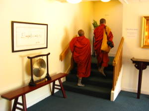 Monks Arriving