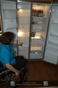 A Side-by-side style refrigerator and freezer