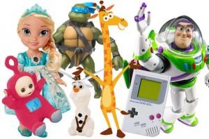 range of children's toys