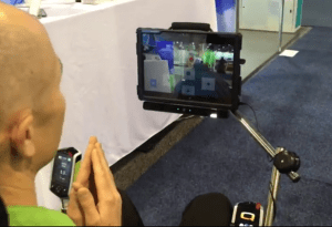 eye controlled wheelchair via tablet mounted on wheelchair