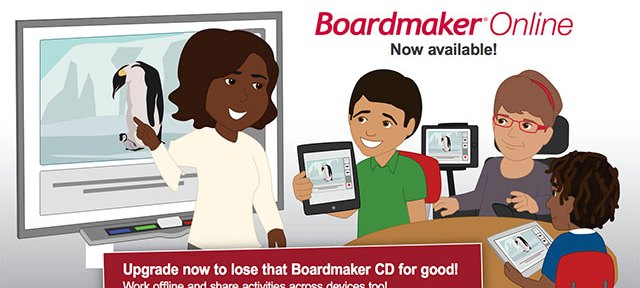 Instructor showing students how to use Boardmaker Online