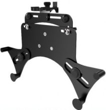 "adjustable tablet holder for mounting any tablet from between 7"" and 13″ to a wheelchair with Rehadapt's Universal Device Socket (UDS)."